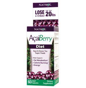Natrol AcaiBerry Diet, Acai & Green Tea SuperFoods, 60 db