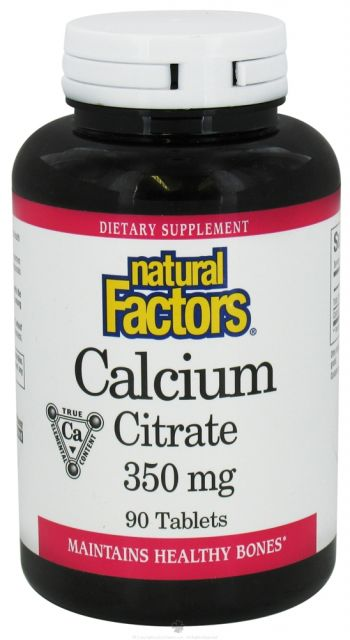 Natural Factors, Kalcium-citrát 350 mg / 90 db