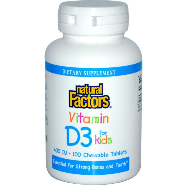 Natural Factors D3 vitamin for Kids 400 IU