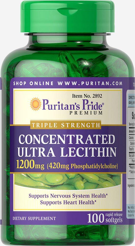 Triple Strength Lecithin (Foszfatidil-kolin) / 1200mg