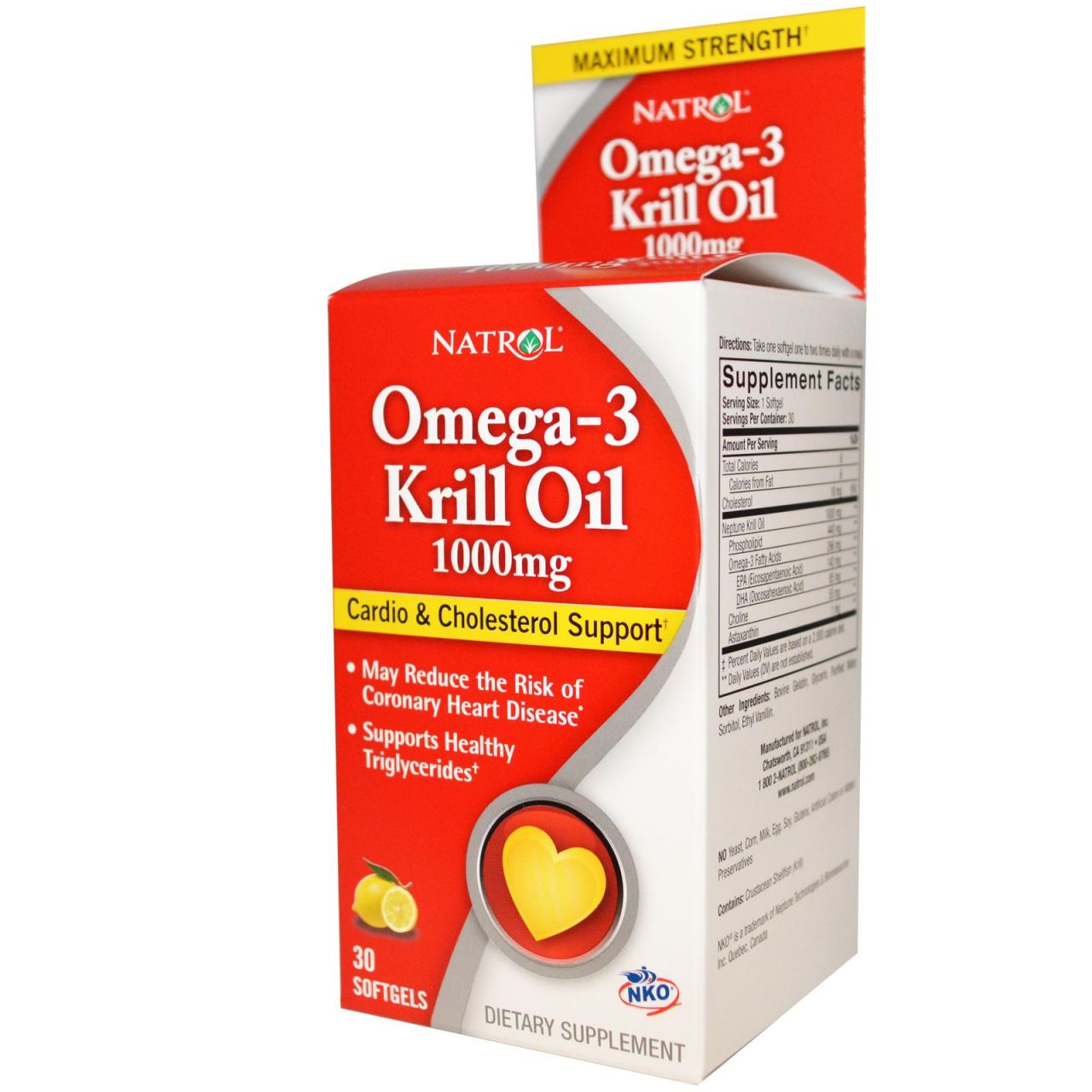 Natrol Omega-3 Krill Oil 1000mg