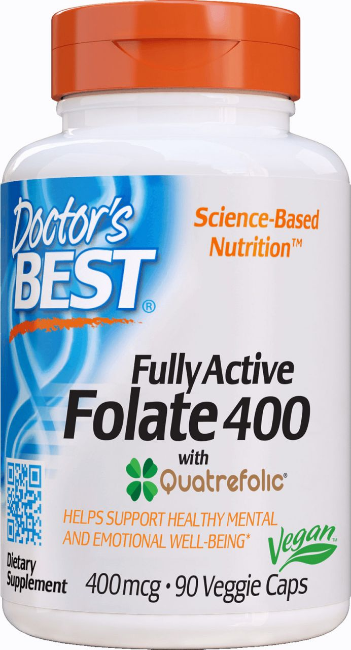 Best Fully Active Folate 400mcg / 90db vcap