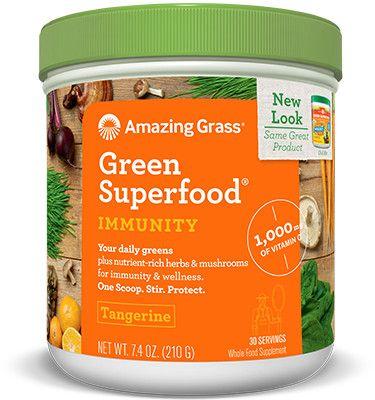 Tangerine Immunity Green SuperFood / 210gr