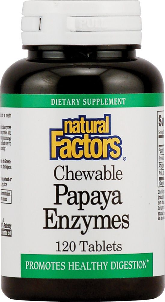 Natural Factors Papaya enzim rágótabletta / 120db