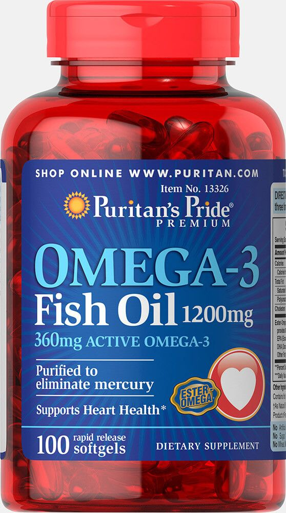 Omega-3 Fish Oil 1200mg / 100db