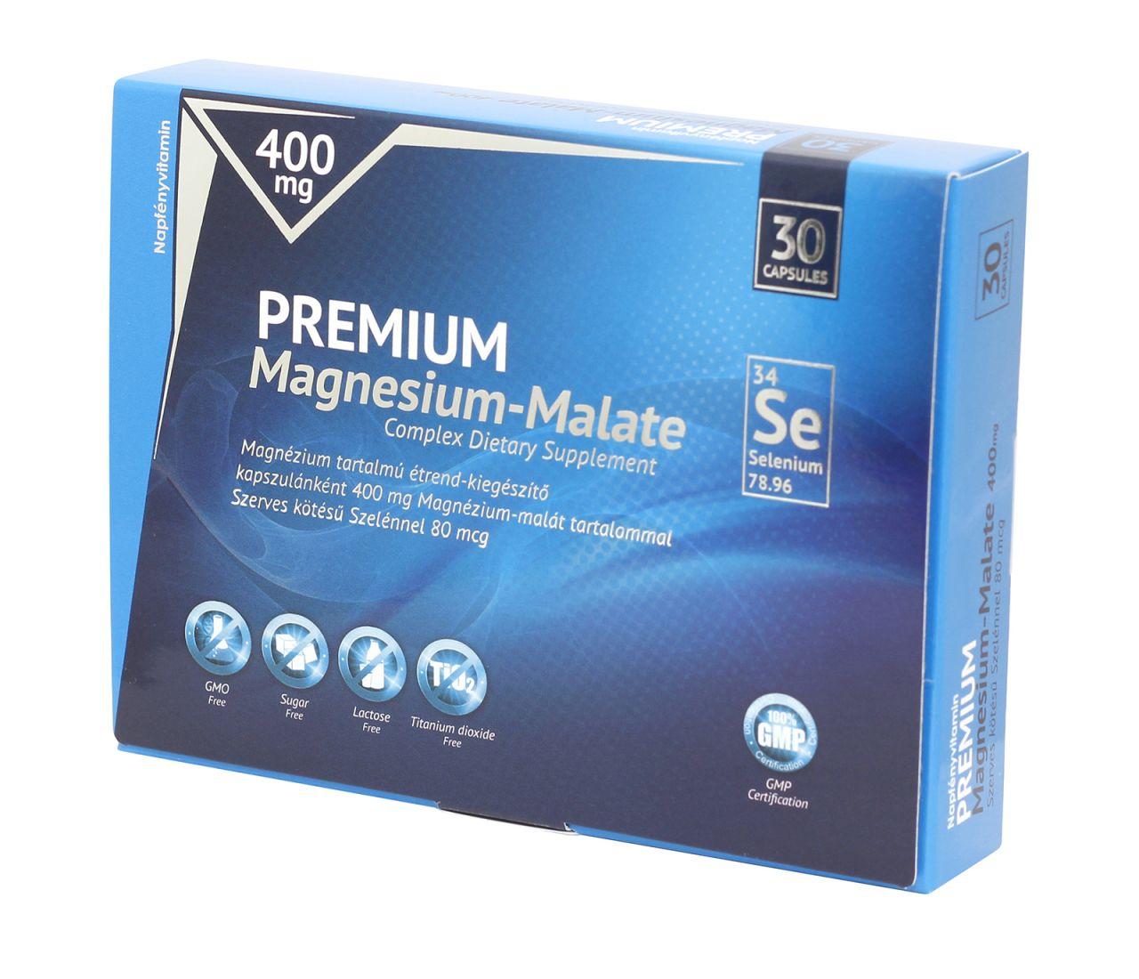 Prémium Magnézium-Malát 400 mg szelénnel dúsítva