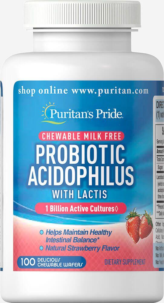 Probiotikus acidofilusz epres izesítésű rágótabletta / 100db