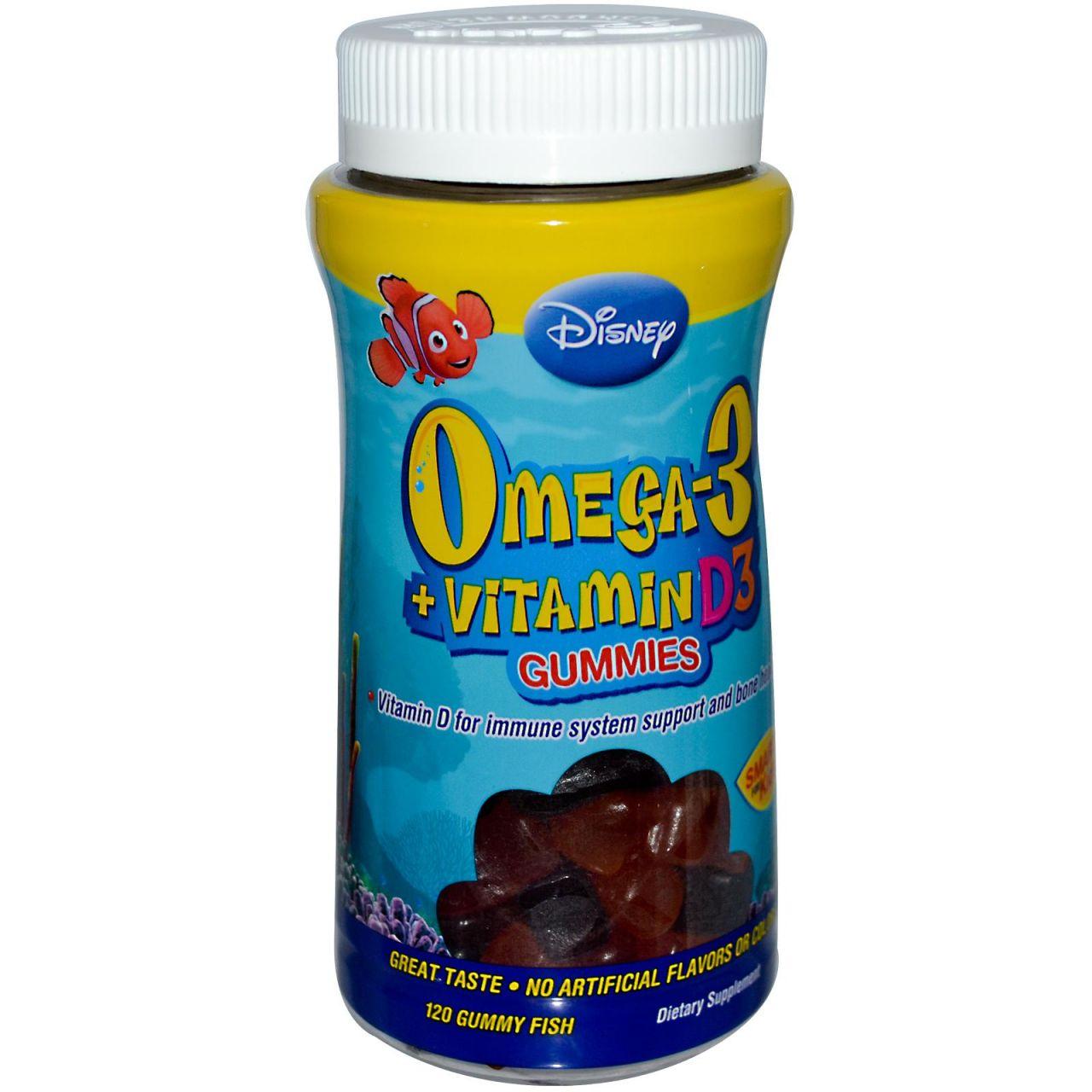 Disney Omega-3, D3 vitaminnal, 120 db gumihal